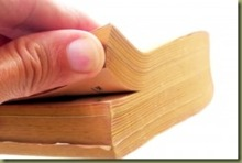 touching book