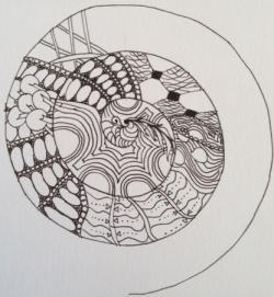 spiral mandala in progress