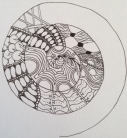 spiral mandala in progress